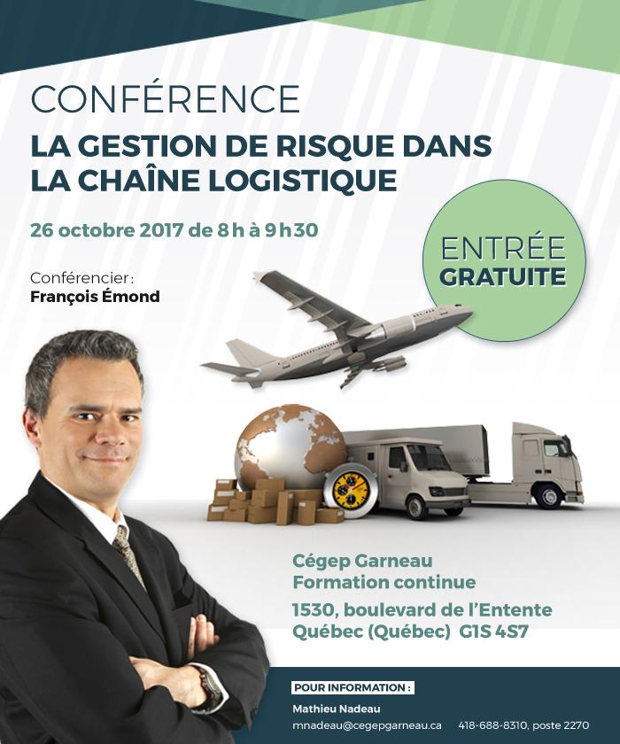 Conférence : La gestion de risque dans la chaîne logistique