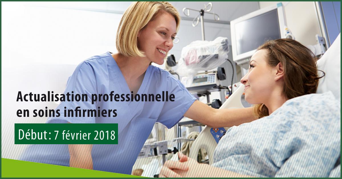 DÉPART CONFIRMÉ | Actualisation professionnelle en soins infirmiers